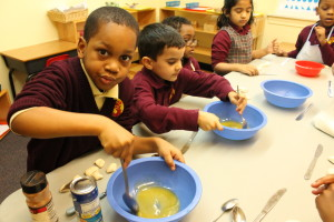 Cooking with the Kindergartners